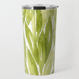 Olive tree leaves pattern in watercolor Travel Mug