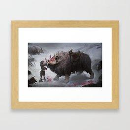 arctic war beast Framed Art Print