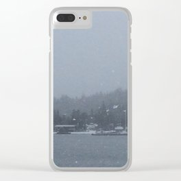 Snowscape Clear iPhone Case