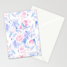 Scattered Lovers Blue on White Stationery Cards