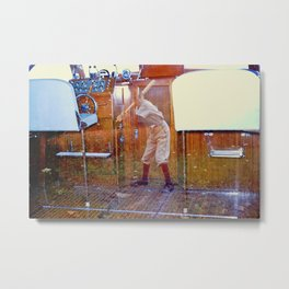 Boat/Baseball Double Exposure Metal Print