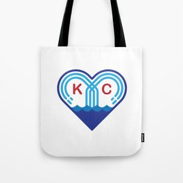Kansas City Fountain Heart Tote Bag