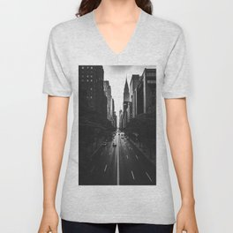 New York City (Black and White) Unisex V-Neck