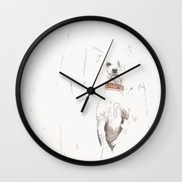 Chinese crested 25 Wall Clock