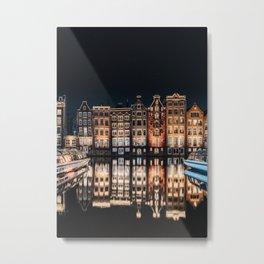 Dancing houses of Amsterdam Metal Print