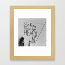 SHE KNEW IT IN HER HEART II Framed Art Print
