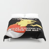 pokeball Duvet Covers featuring Pokeball by Mie Kristensen