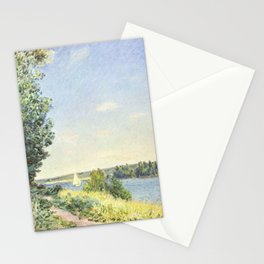 Alfred Sisley - Normandy, The Water Path, Evening at Sahurs Stationery Cards