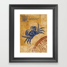 cancer | krebs Framed Art Print