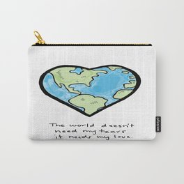 Worldly Love Carry-All Pouch