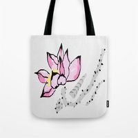 lotus Tote Bags featuring Lotus by Vitta