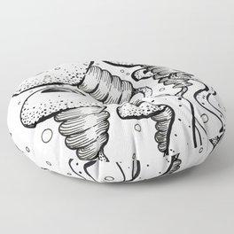 puffervescent anemones Floor Pillow
