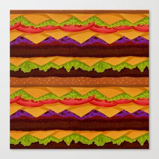 Infinite Burger Canvas Print