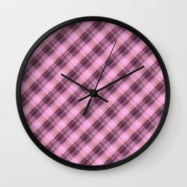 Сolorful plaid, plaid plaid, beautiful plaid 4 Wall Clock