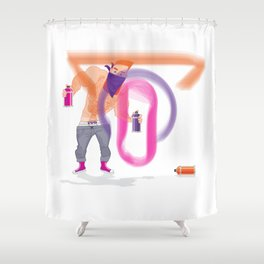 Ivo Graffiti Shower Curtain