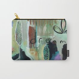 """""""Dream Alive"""" Original Painting by Flora Bowley Carry-All Pouch"""