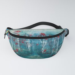 Red Flower Marsh Fanny Pack
