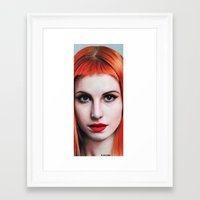 hayley williams Framed Art Prints featuring Hayley Williams Drawing by Luca Leona