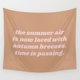 laced with autumn breezes Wall Tapestry
