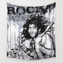 Johnny - the drummer Wall Tapestry