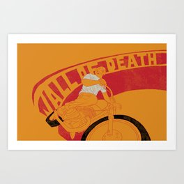 wall of death Art Print