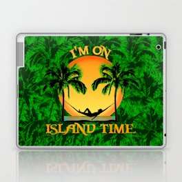 Palm Trees Tropical Island Time Laptop & iPad Skin