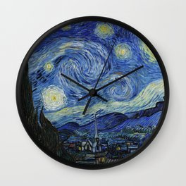 Starry Night by Vincent van Gogh Wall Clock
