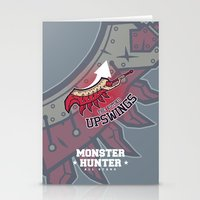 monster hunter Stationery Cards featuring Monster Hunter All Stars - The Kotoko Upswings  by Bleached ink