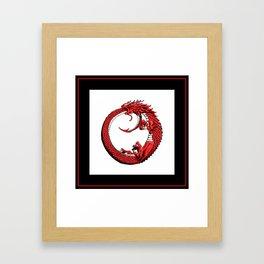 The Wyrm Turned Red Framed Art Print