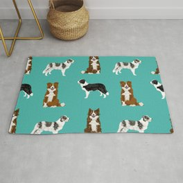 Border Collie mixed coats dog breed pattern gifts collies dog lover Rug