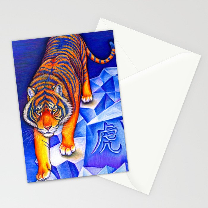 Chinese Zodiac Year of the Tiger Stationery Cards