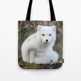 Polar Fox by Anne Elisabeth Tote Bag