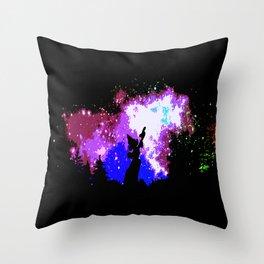starry night  smurf Throw Pillow