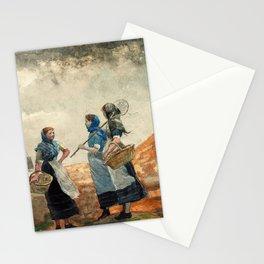 Three Fisher Girls, Tynemouth - Digital Remastered Edition Stationery Cards