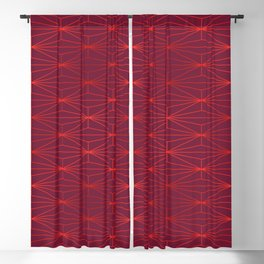 ELEGANT BEED RED TANGERINE PATTERN v3 Blackout Curtain