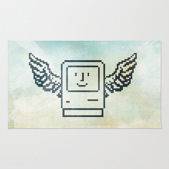 pixel mac with wings Rug