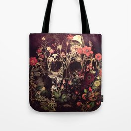 Bloom Skull Tote Bag