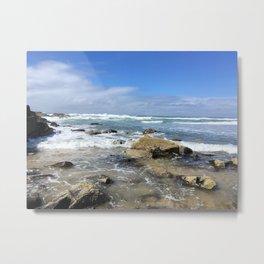 Fall ocean view cloudy photography Metal Print