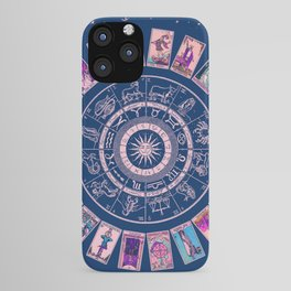 Major Arcana & Wheel of the Zodiac | Pastel Goth iPhone Case