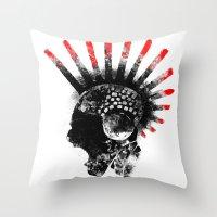cyberpunk Throw Pillows featuring cyberpunk by rope