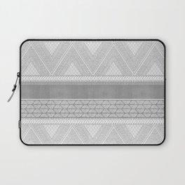 Dutch Wax Tribal Print in Grey Laptop Sleeve