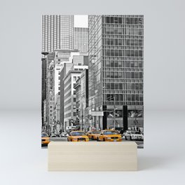 NYC - Yellow Cabs - Police Car Mini Art Print