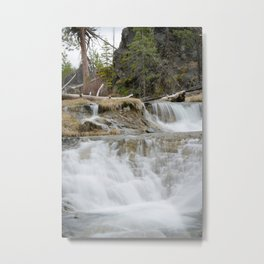 Paulina Creek Waterfall In Oregon Metal Print