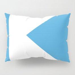 K on blue Pillow Sham
