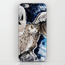 "Owl - Animal - ""I own the night..."" by LiliFlore iPhone Skin"