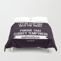 snape Duvet Covers featuring Adventure by Dorothy Leigh