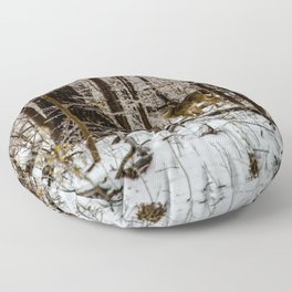 Deer in the Glistening Forest by Teresa Thompson Floor Pillow
