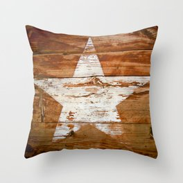 Faded Star Throw Pillow