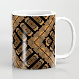 Abstract 355 a bronze tone geometric Coffee Mug