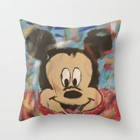 mickey Throw Pillows featuring Mickey by Jason L Cohen Fine Art